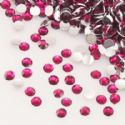 Jewel Embellishments, Resin, Magenta, Faceted Discs, 2mm x 2mm x 0.8mm, 300  pieces, (ZSS060)